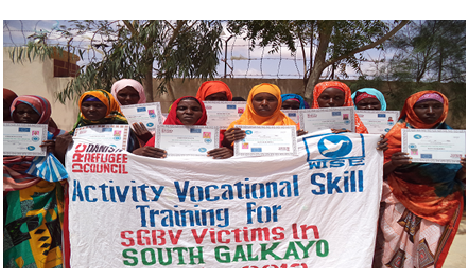 SGBV survivors  are supported with lifeskills training and kick start package